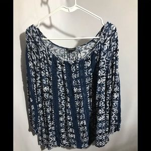 Lucky Brand Blue Top Size S